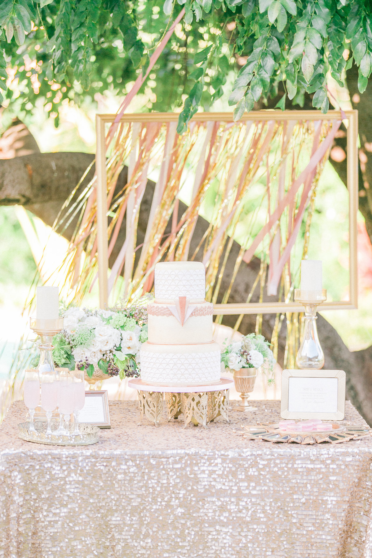 Gatsby Inspired Wedding Cake Table Decor A Cake Life