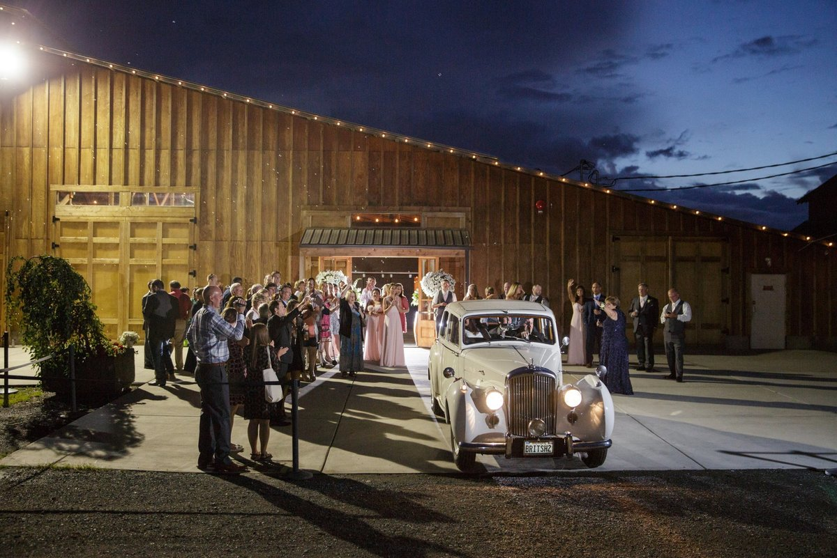wedding-exit-with-classic-car