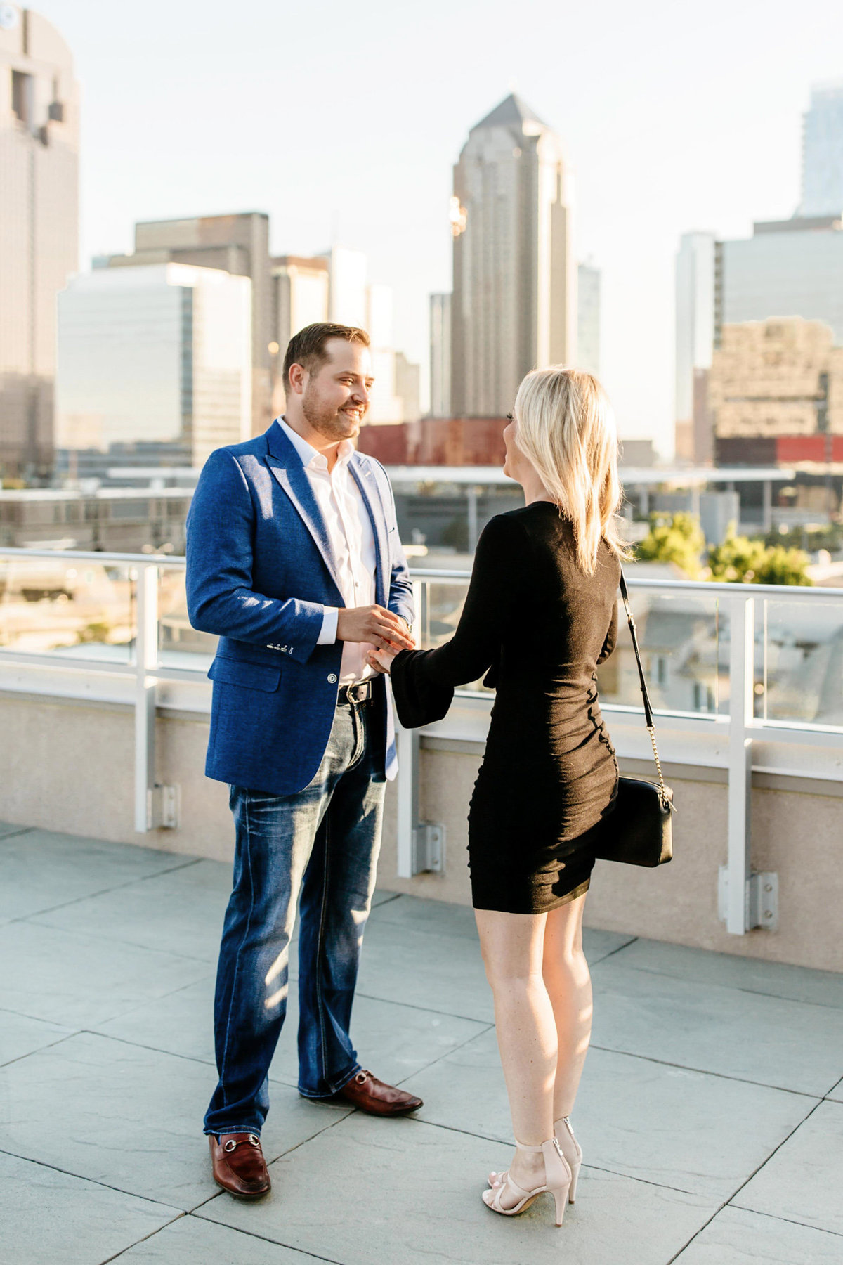 Eric & Megan - Downtown Dallas Rooftop Proposal & Engagement Session-21