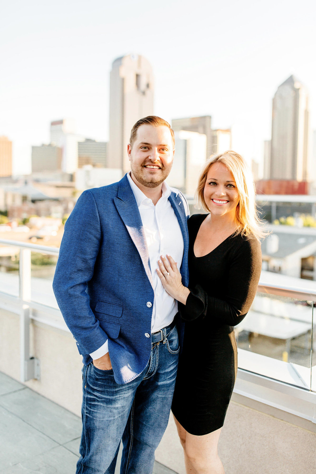 Eric & Megan - Downtown Dallas Rooftop Proposal & Engagement Session-62