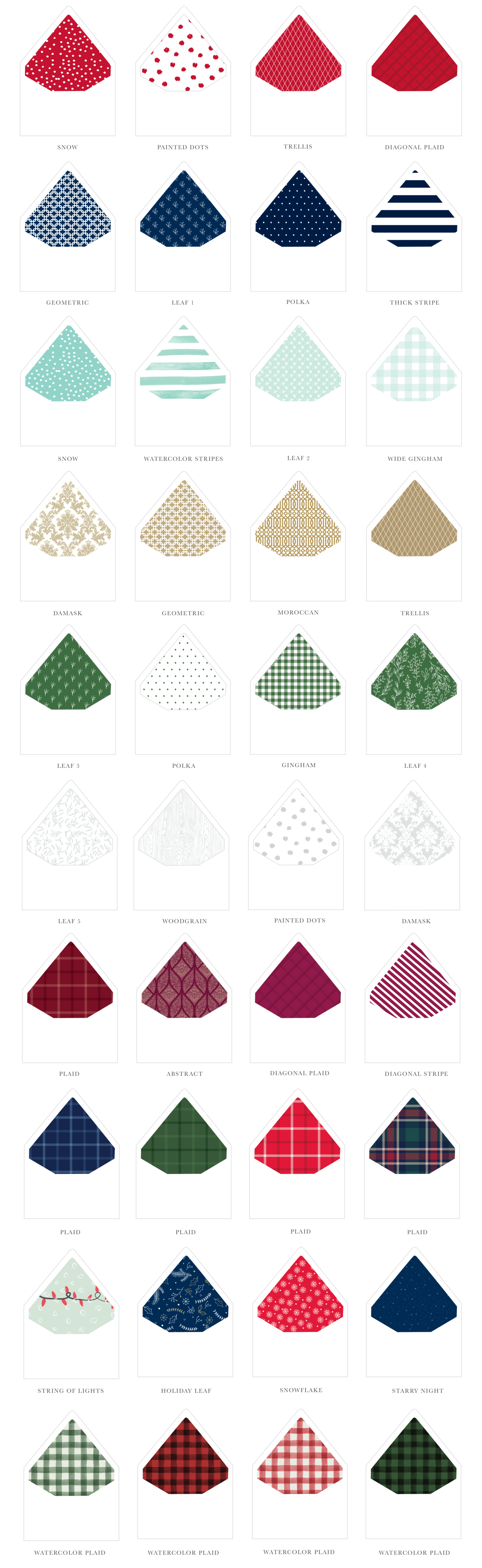 Sweetly Said Holiday Pattern Envelope liners-1200px-01