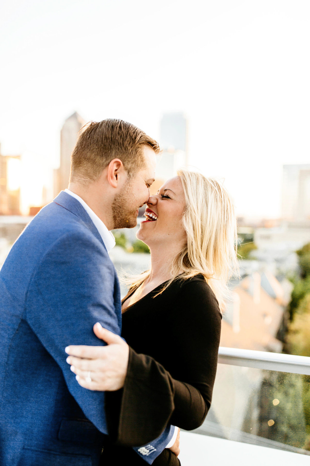 Eric & Megan - Downtown Dallas Rooftop Proposal & Engagement Session-101