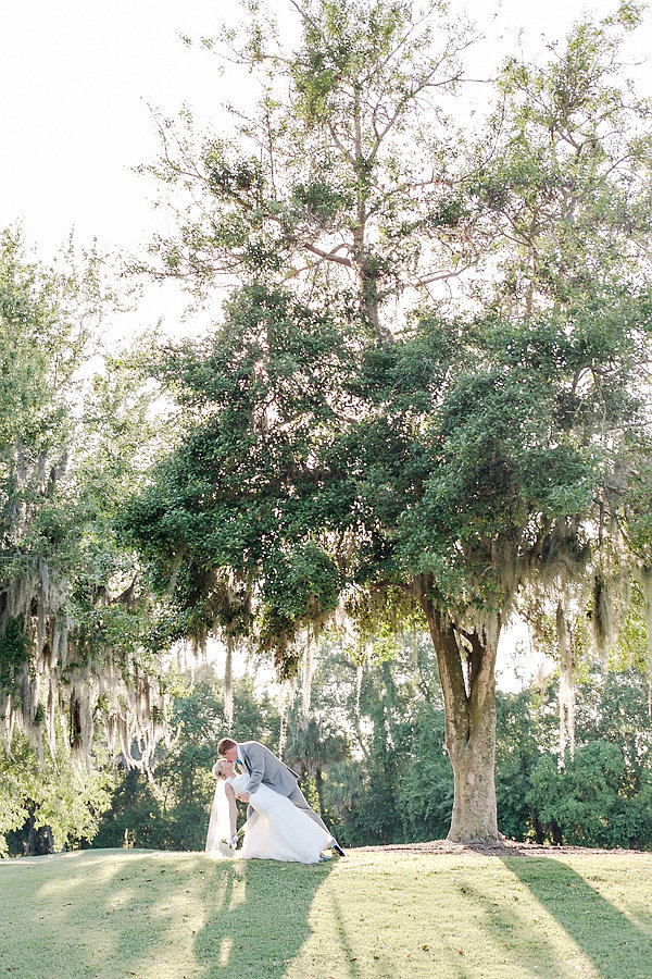 Savannah Golf Club Spring Wedding Bride Groom Romantic