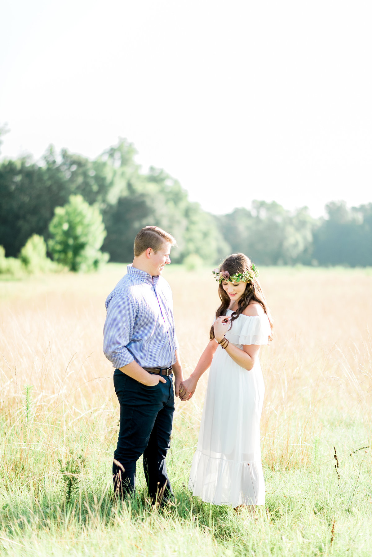 raleigh, nc boho engagement photo