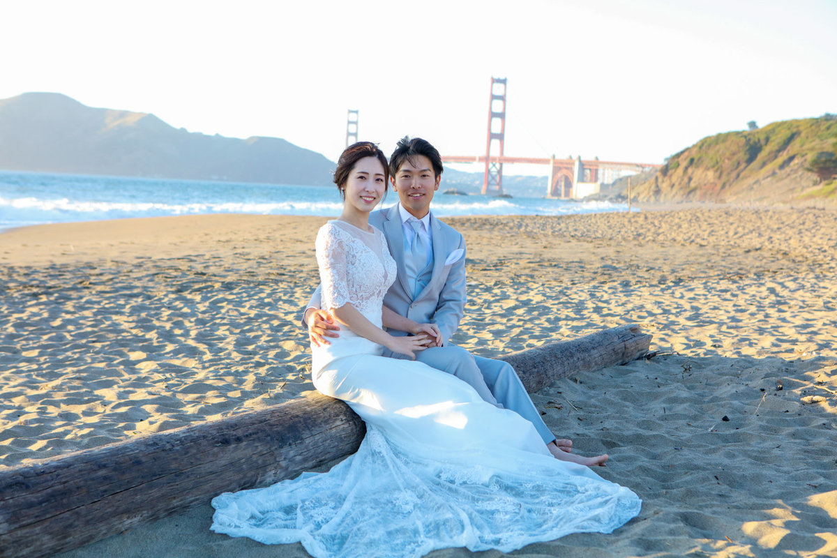 Baker Beach portrait session, wedding photography DeNeffe Studios