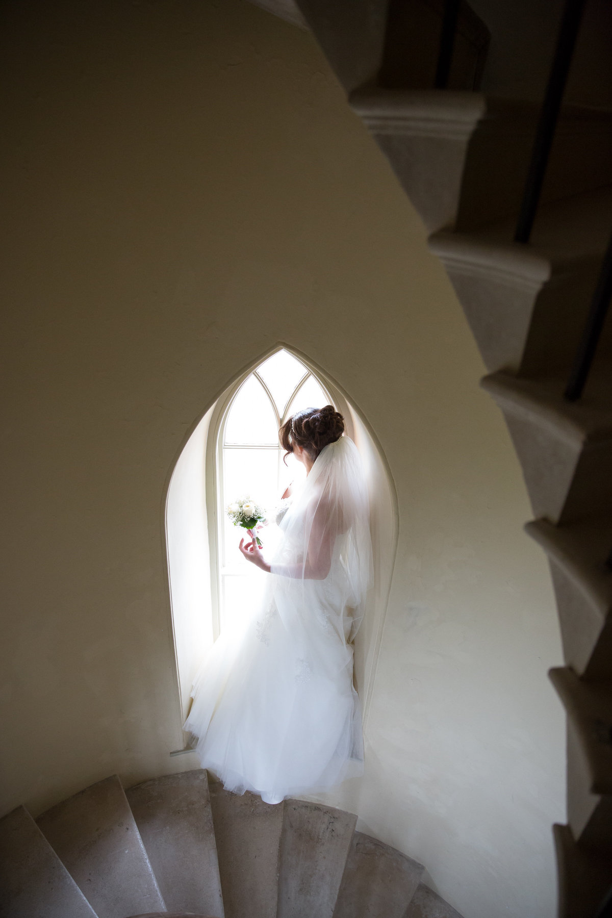 haldon belvedere bride on stairs devon
