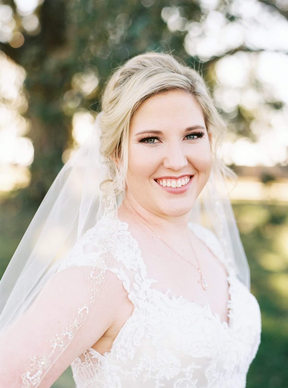 A beautiful bride at a farm house in Texas. This session was captured on film