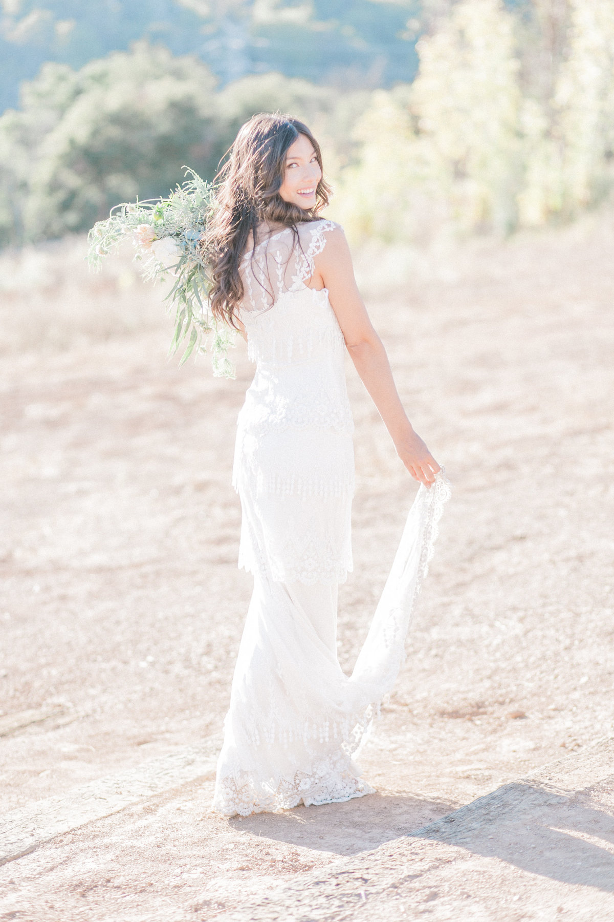 Claire Pettibone Embroidered Wedding Gown