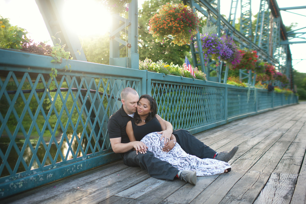 Simsbury Flower Bridge Photography Session | Pregnancy Photos | CT Maternity Photography Session | CT Photographer Elizabeth Frederick Photography