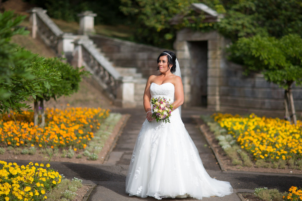 bride at reed hall wedding exeter