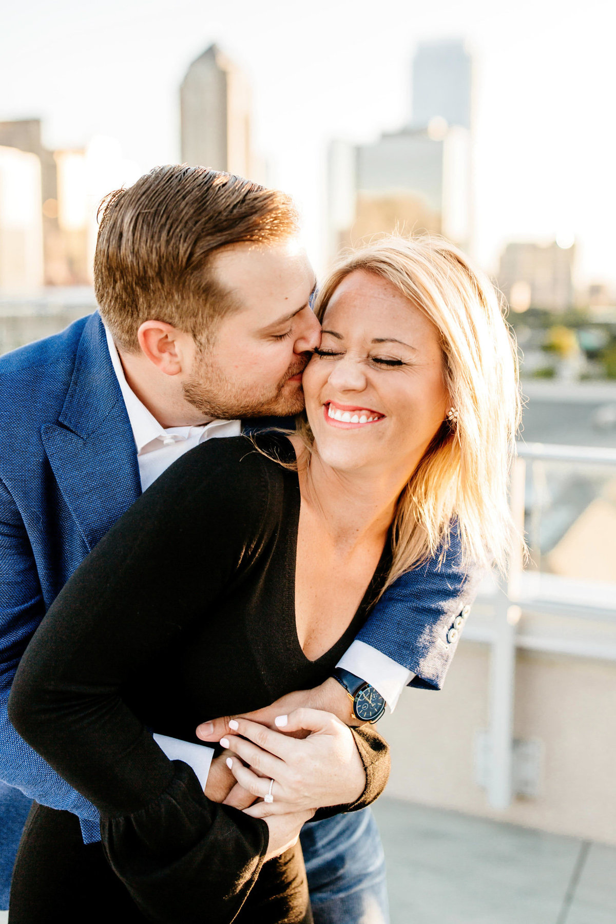Eric & Megan - Downtown Dallas Rooftop Proposal & Engagement Session-79