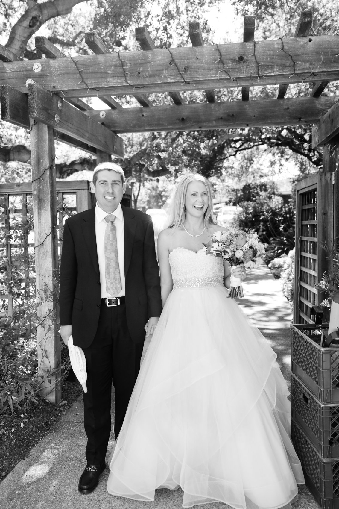Bride and groom portrait california wedding black and white photography couple love