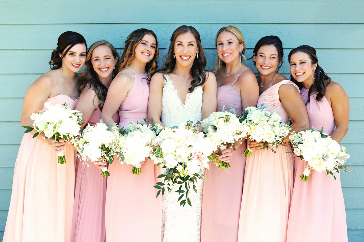 Napa Valley Photographers Bridesmaids with Pink Dresses