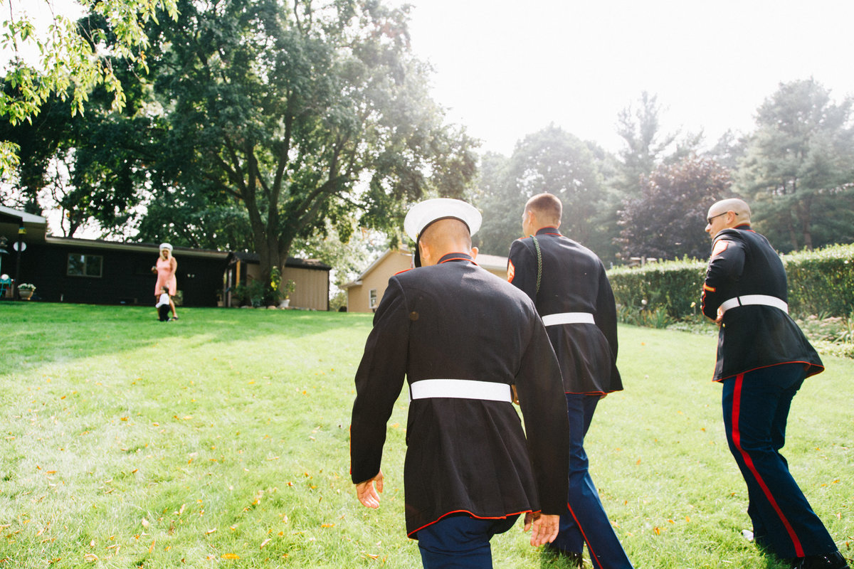 Grand Rapids Marine Wedding photo by photographer Sidney Baker-Green