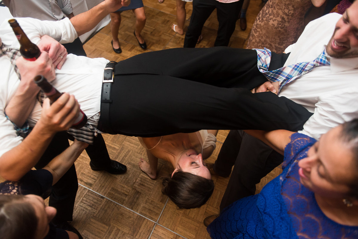 Brooklyn Wedding Photographer | Rob Allen Photography | Destination Wedding Photographer at Mt. Sinai New York bride  doing the limbo human style