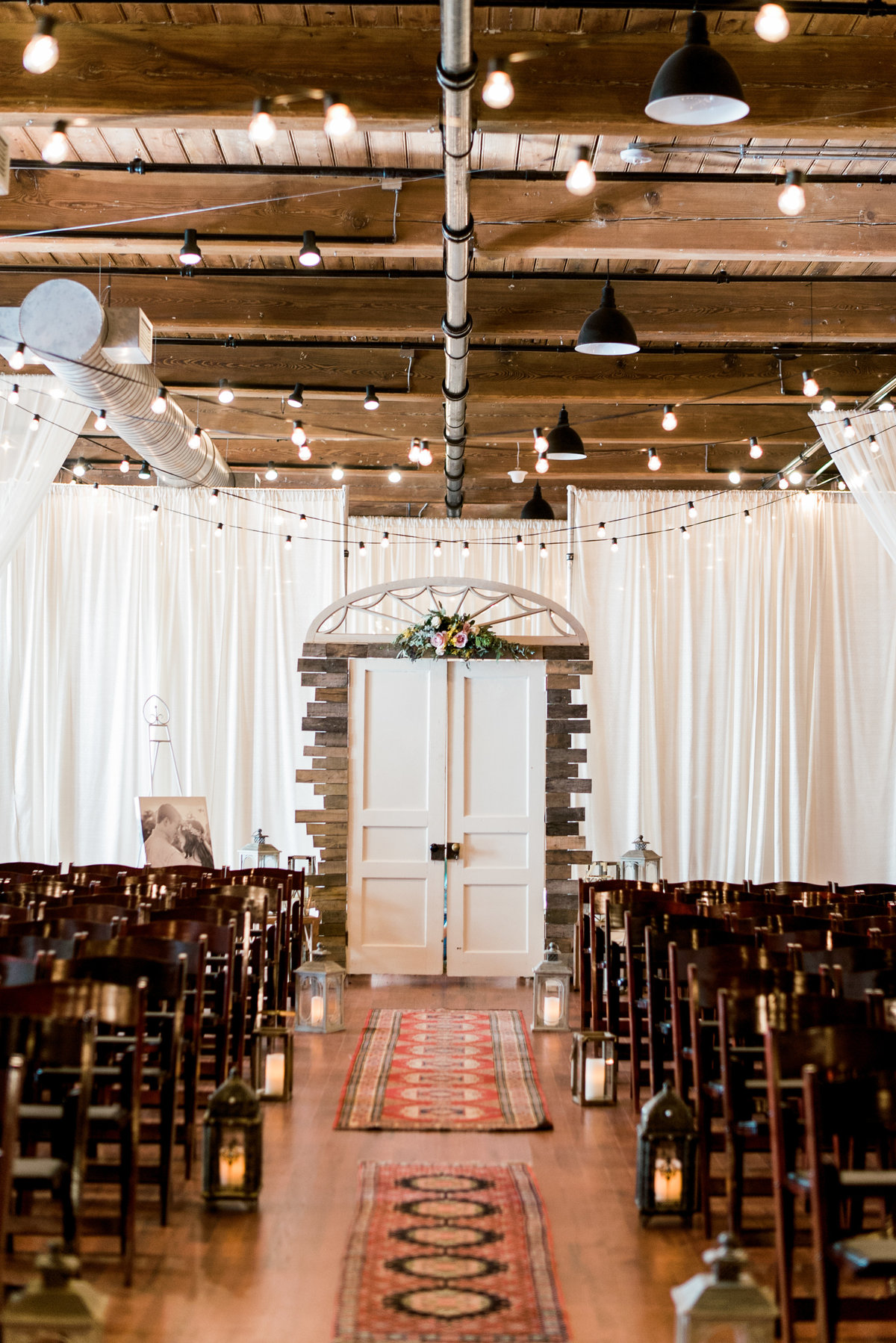 cloth mill wedding photo