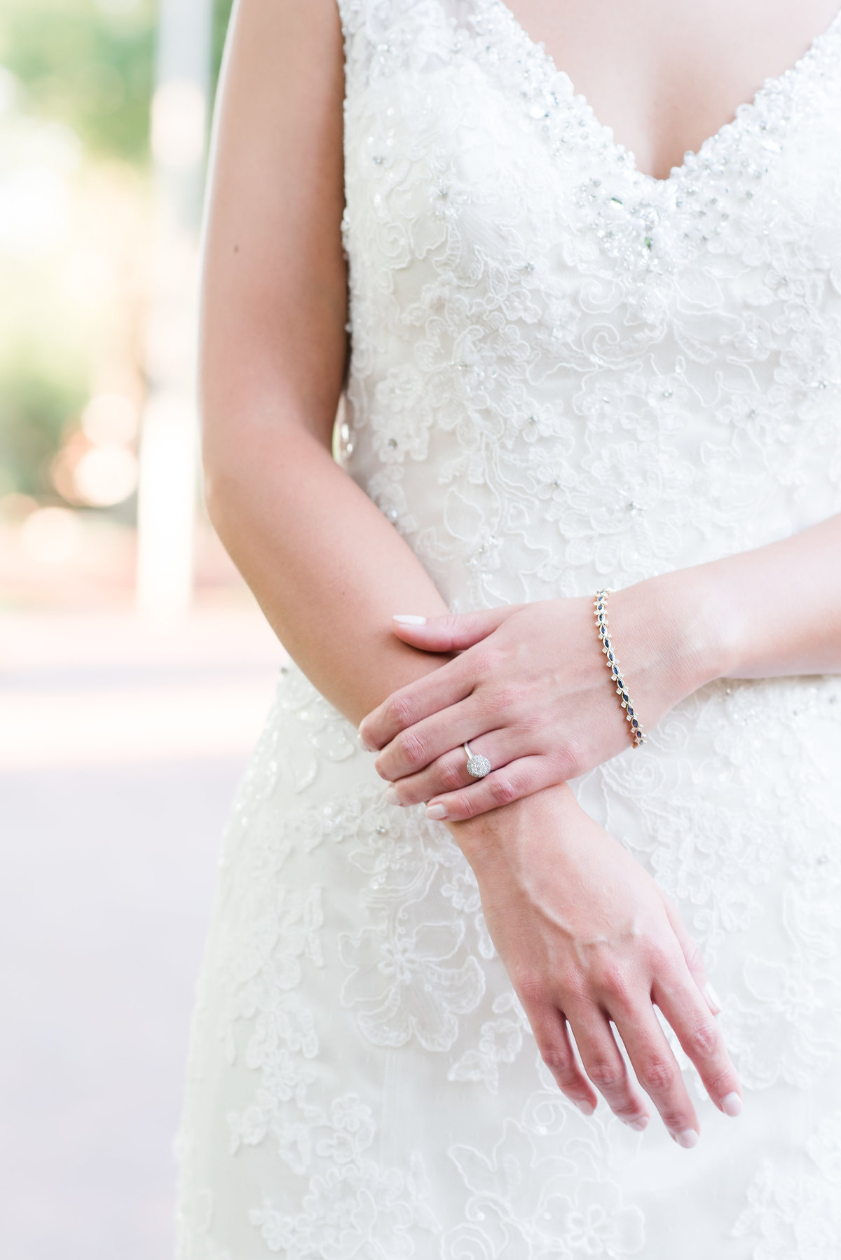 Brides arms and hands