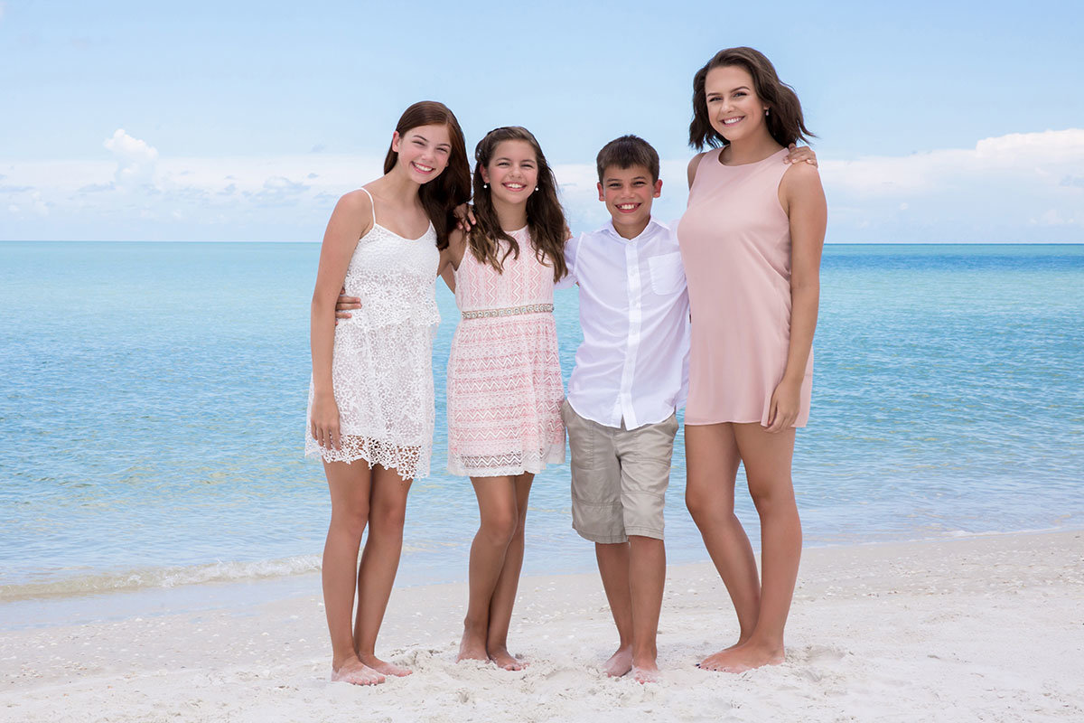 beach family portrait naples florida