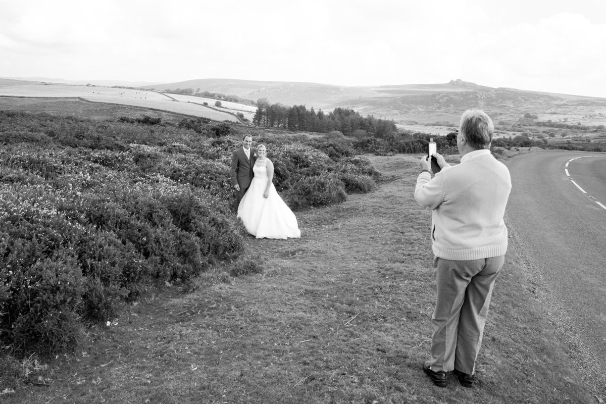 funny wedding photos on dartmoor