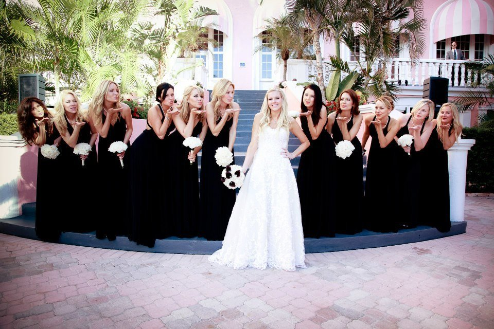 large bridal party hair and makeup