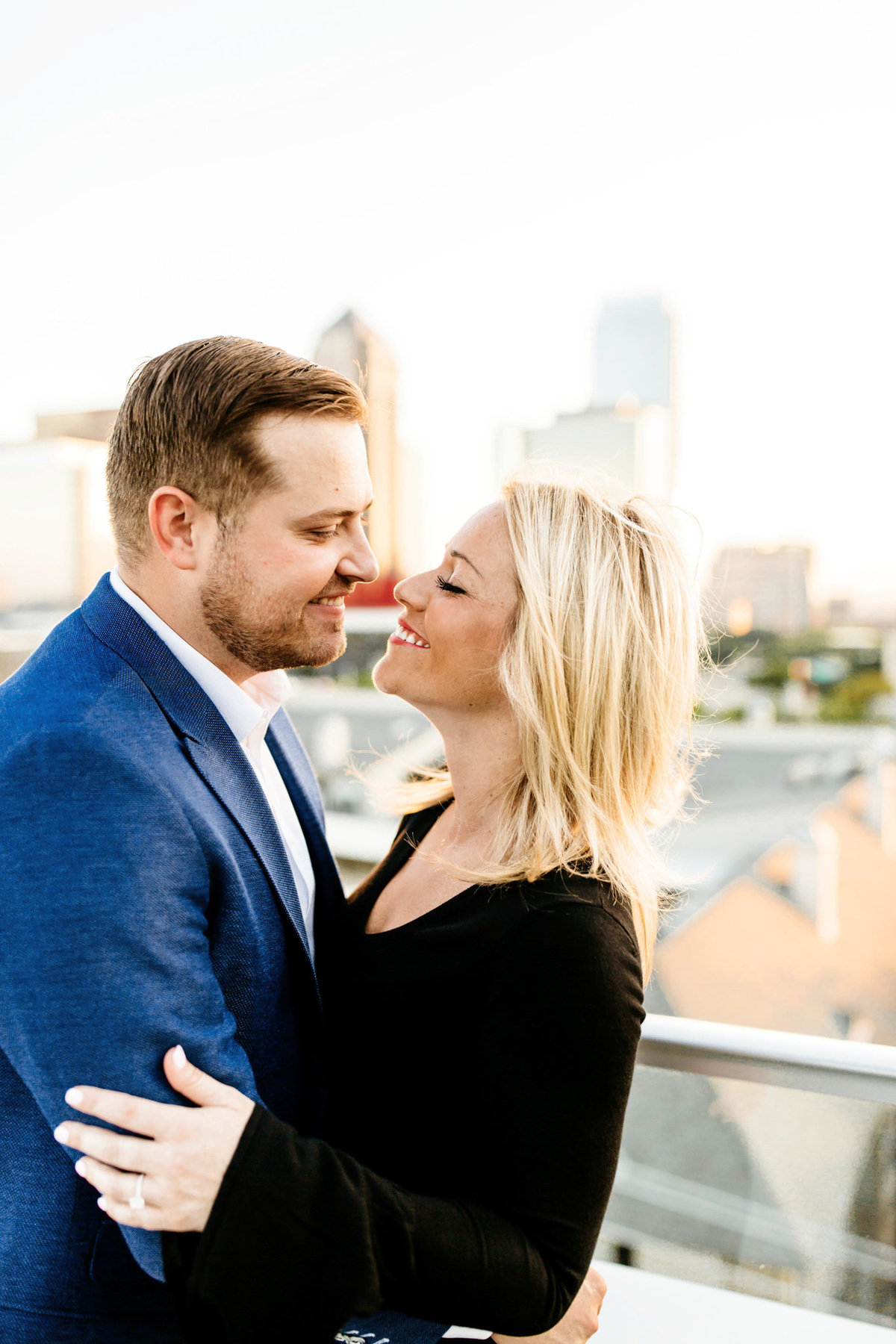 Eric & Megan - Downtown Dallas Rooftop Proposal & Engagement Session-99