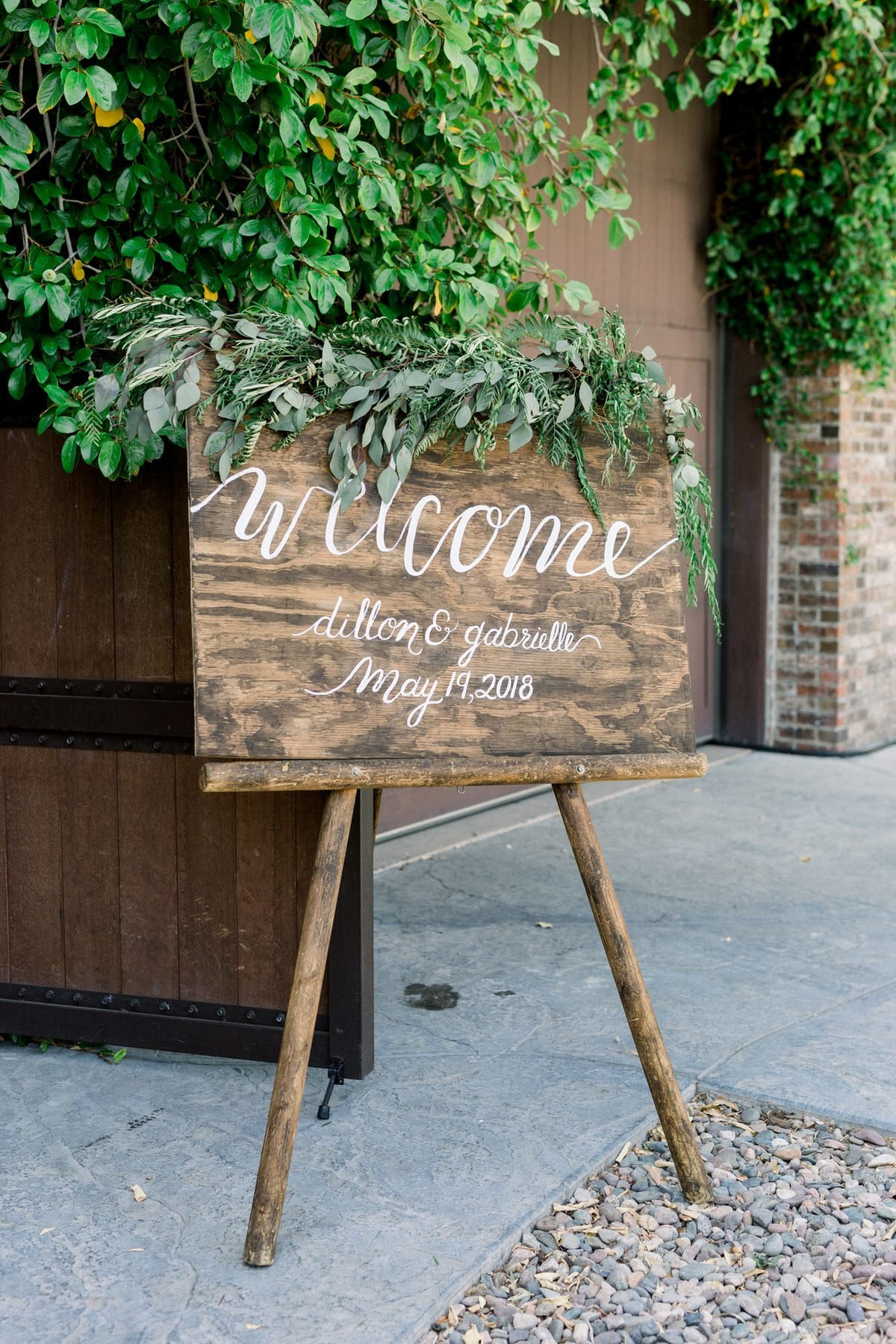 Wild Bouquet Wedding Welcome Sign Romantic Los Angeles Wedding Photography