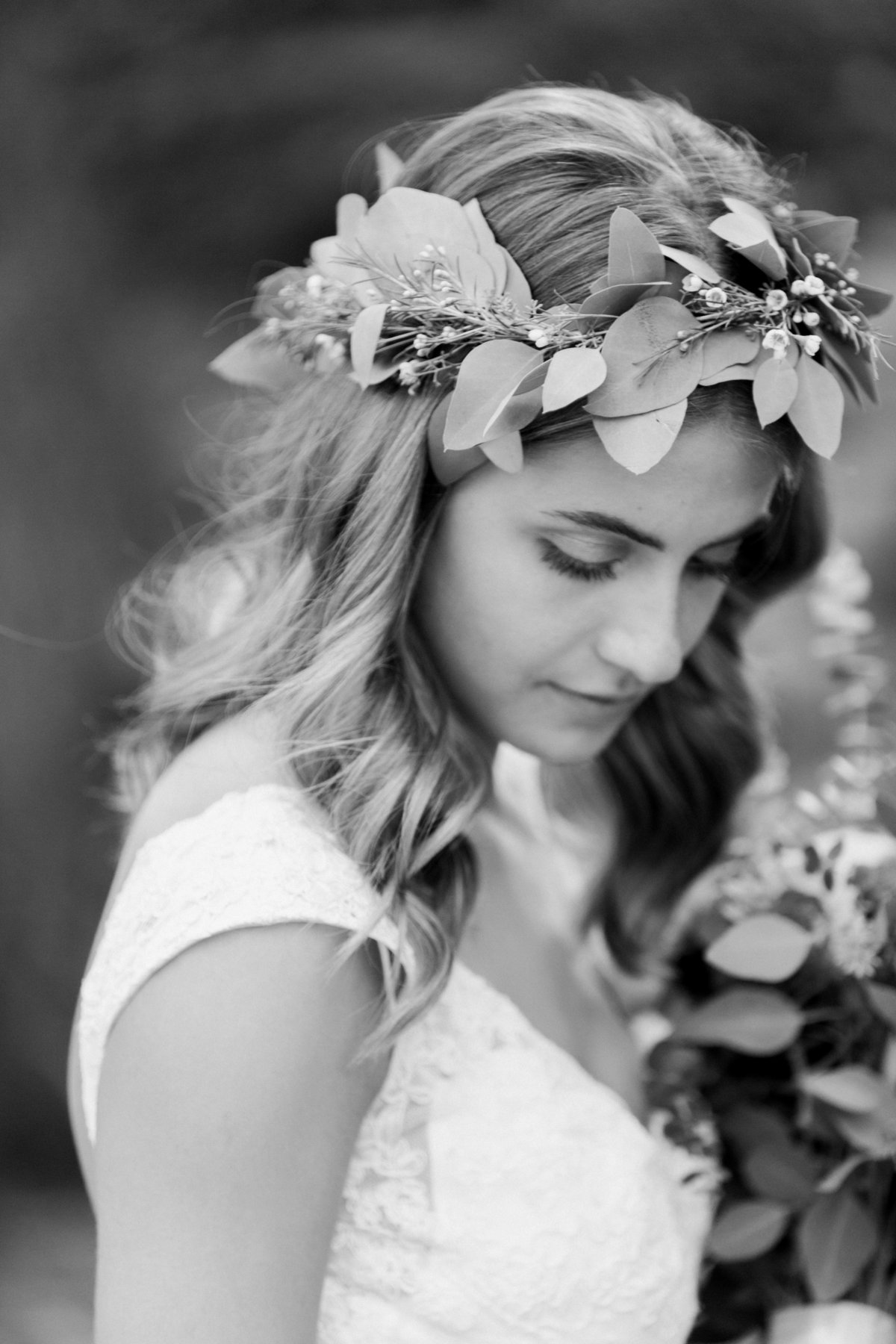 Charley Creek Gardens Wedding Eucalyptus Crown Photo