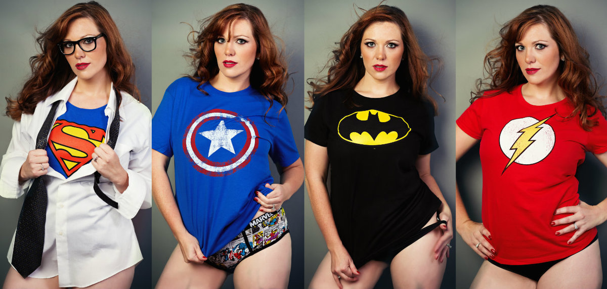 superhero themed boudoir photo shoot by Intimates by janet Lynn  photography