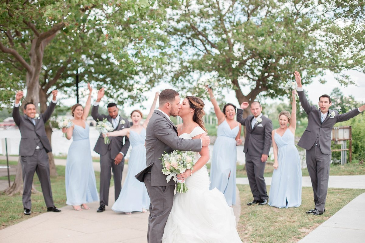 Baby Powder Blue and Blush Summer Park Inn Wedding with First Look by Toledo and Detroit Based Wedding Photographers Kent & Stephanie Photography_1026