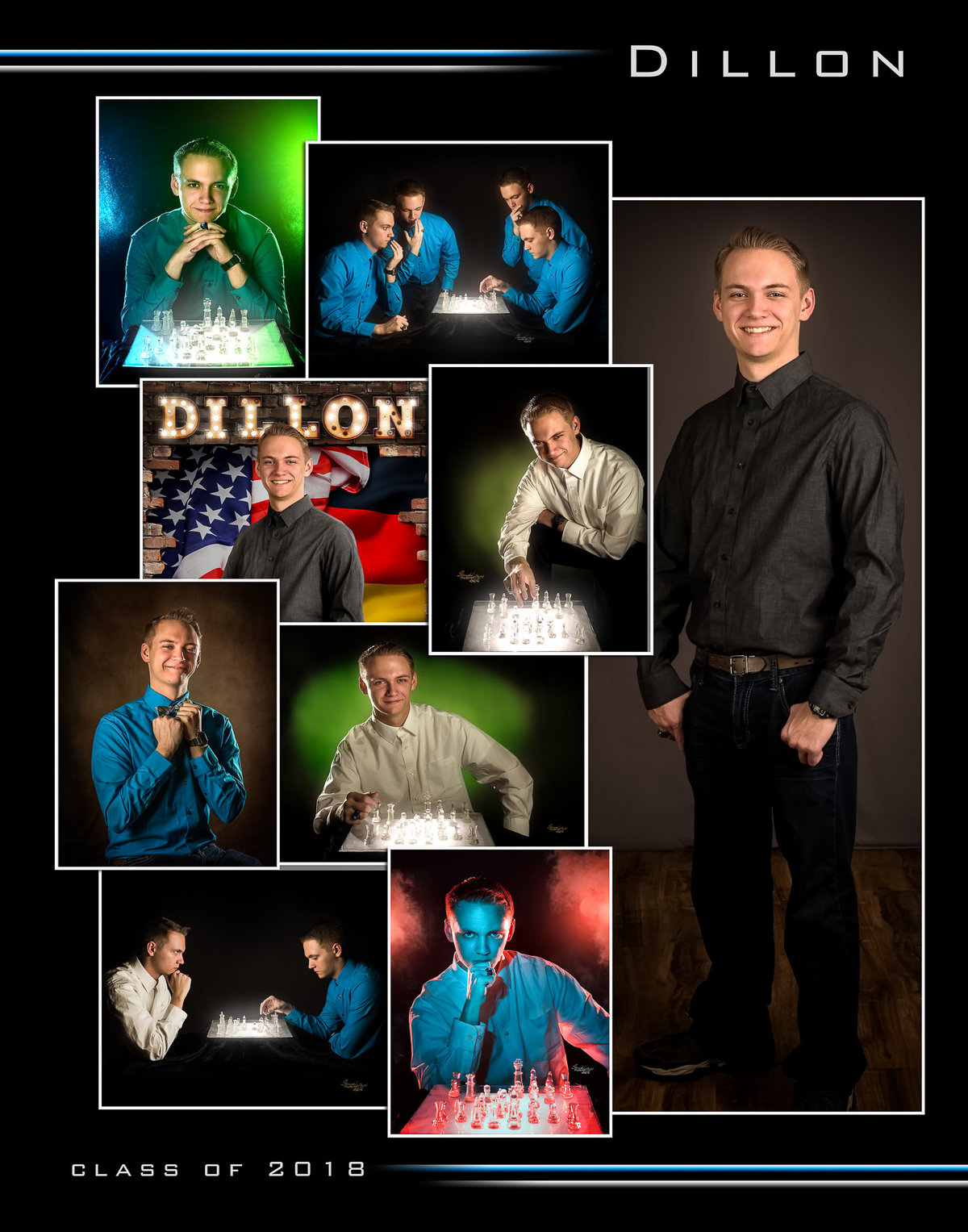 Senior Boy Collage Photo by Stacy Holbert, Booneville AR