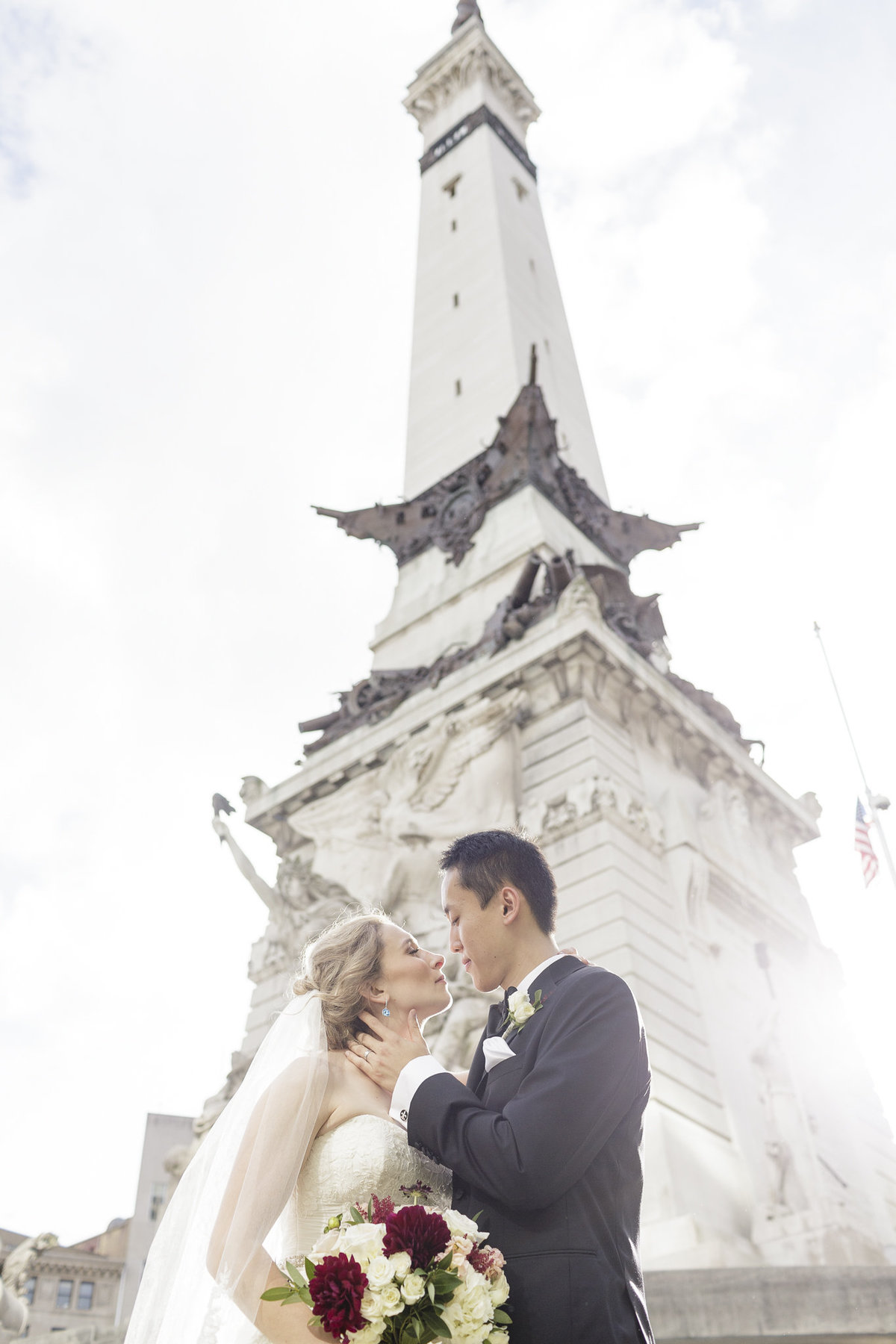 Bride and groom in Indianapolis