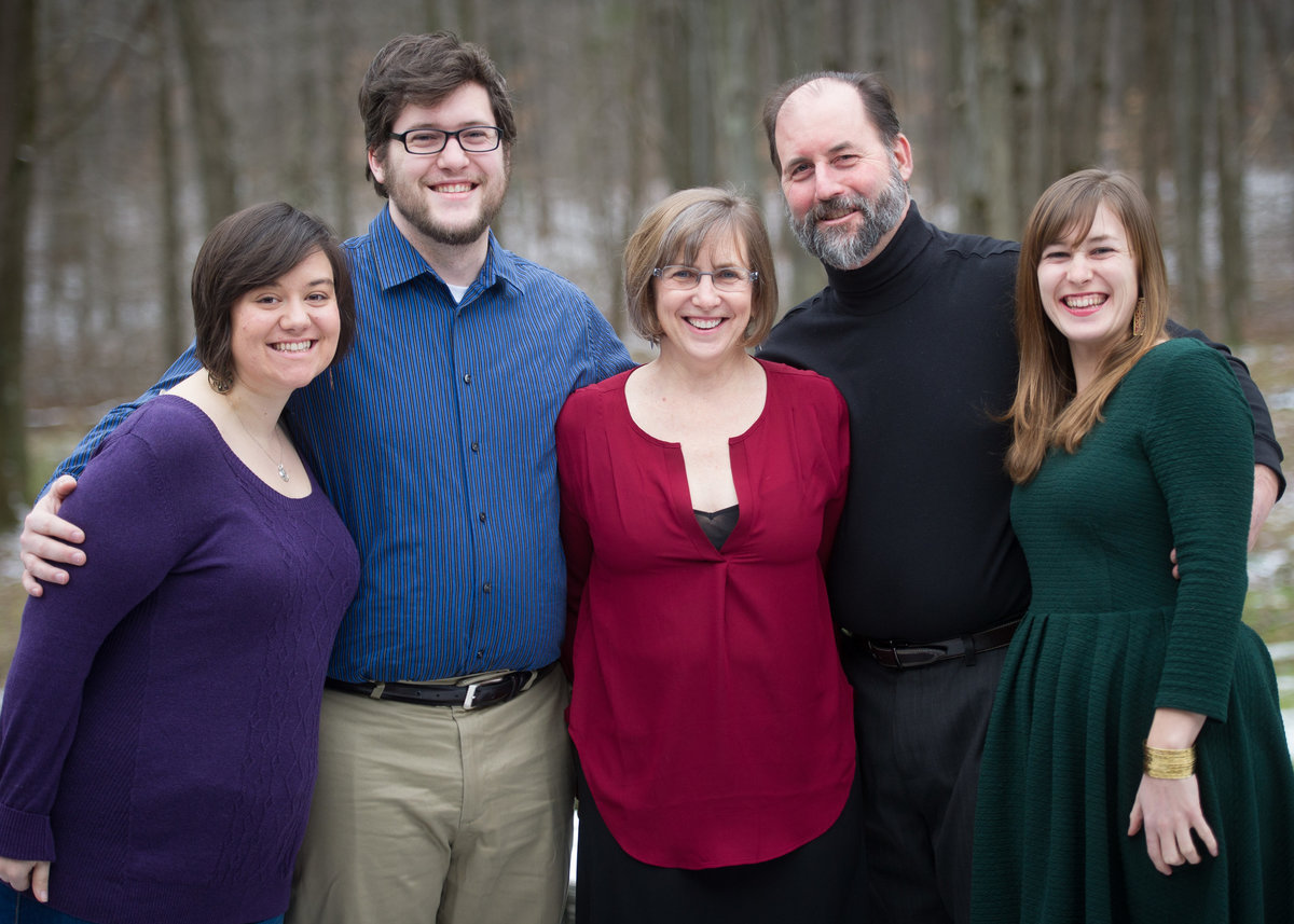 Parents with children and expecting daughter-in-law, Ohio.