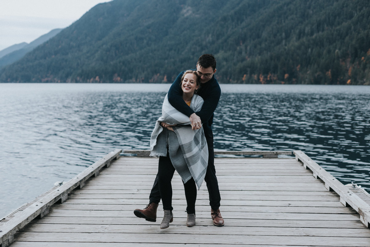 lakecrescent - olympic national park - marymere falls - elopement - engagement session-95