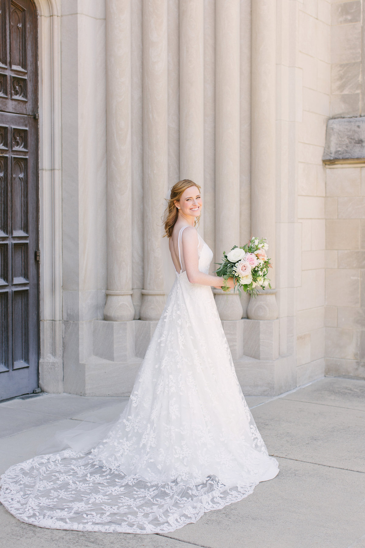 Scottish Rite Cathedral Wedding Lace Wedding Custom Bridal Gown Photo