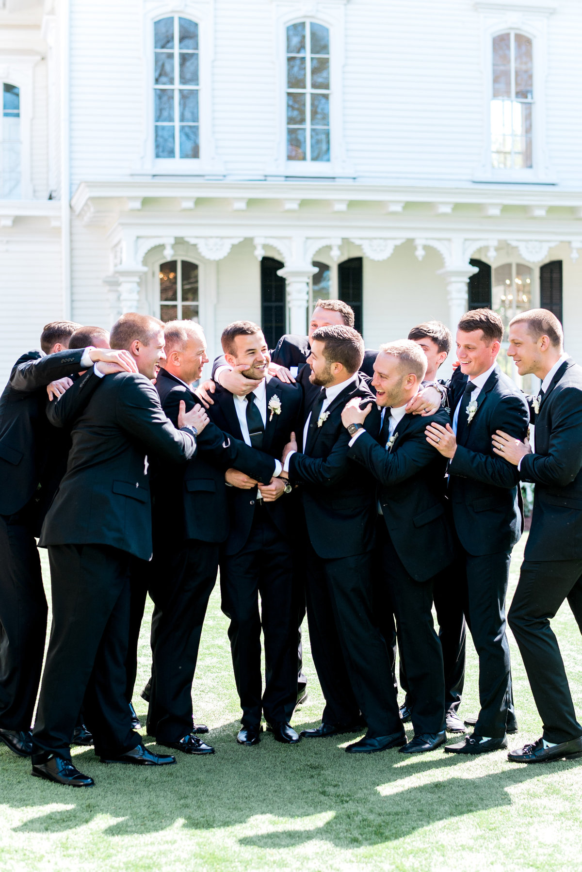 raleigh nc groomsmen photo