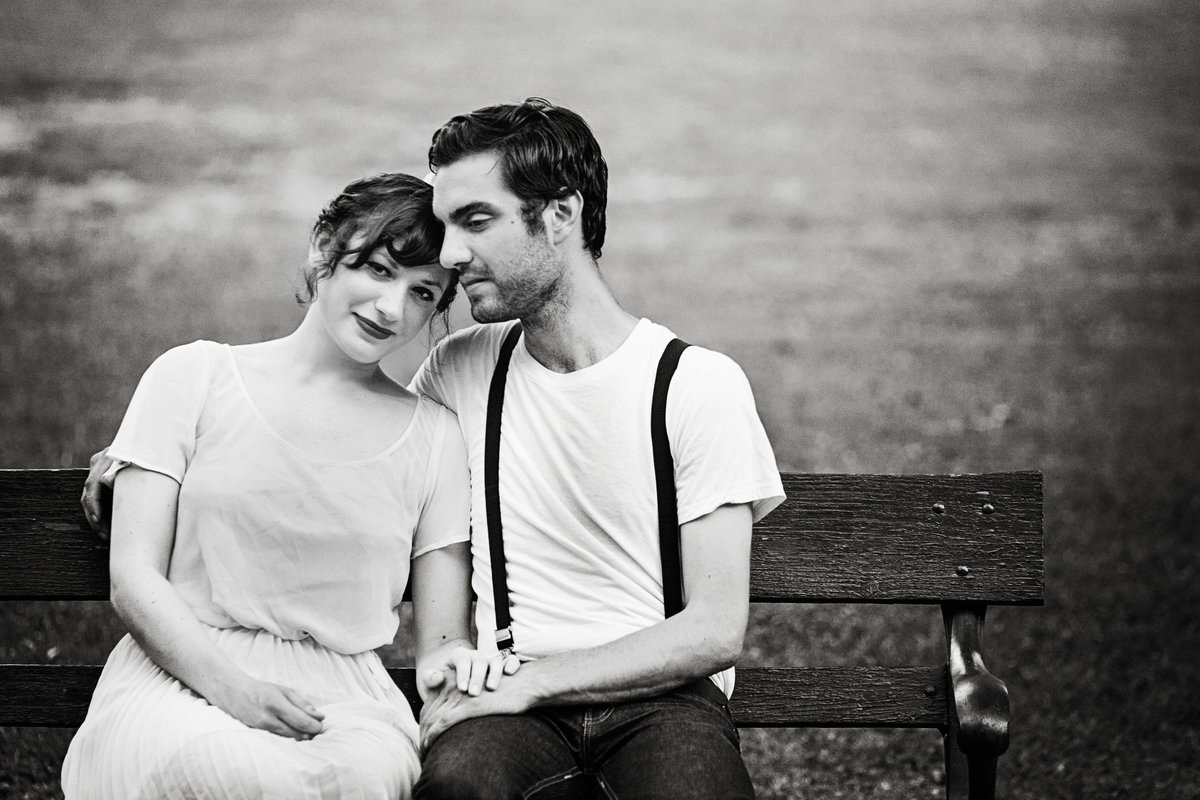 Albany, NY Washington Park retro vintage chic engagement photos by Green Bay wedding photographer Casi Lea Photography