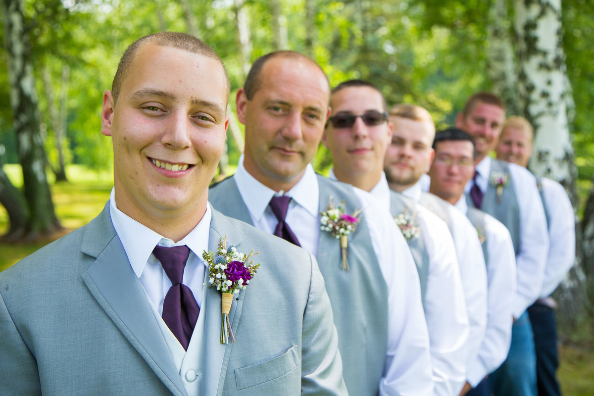 71 wedding photography groom with groomsmen portrait