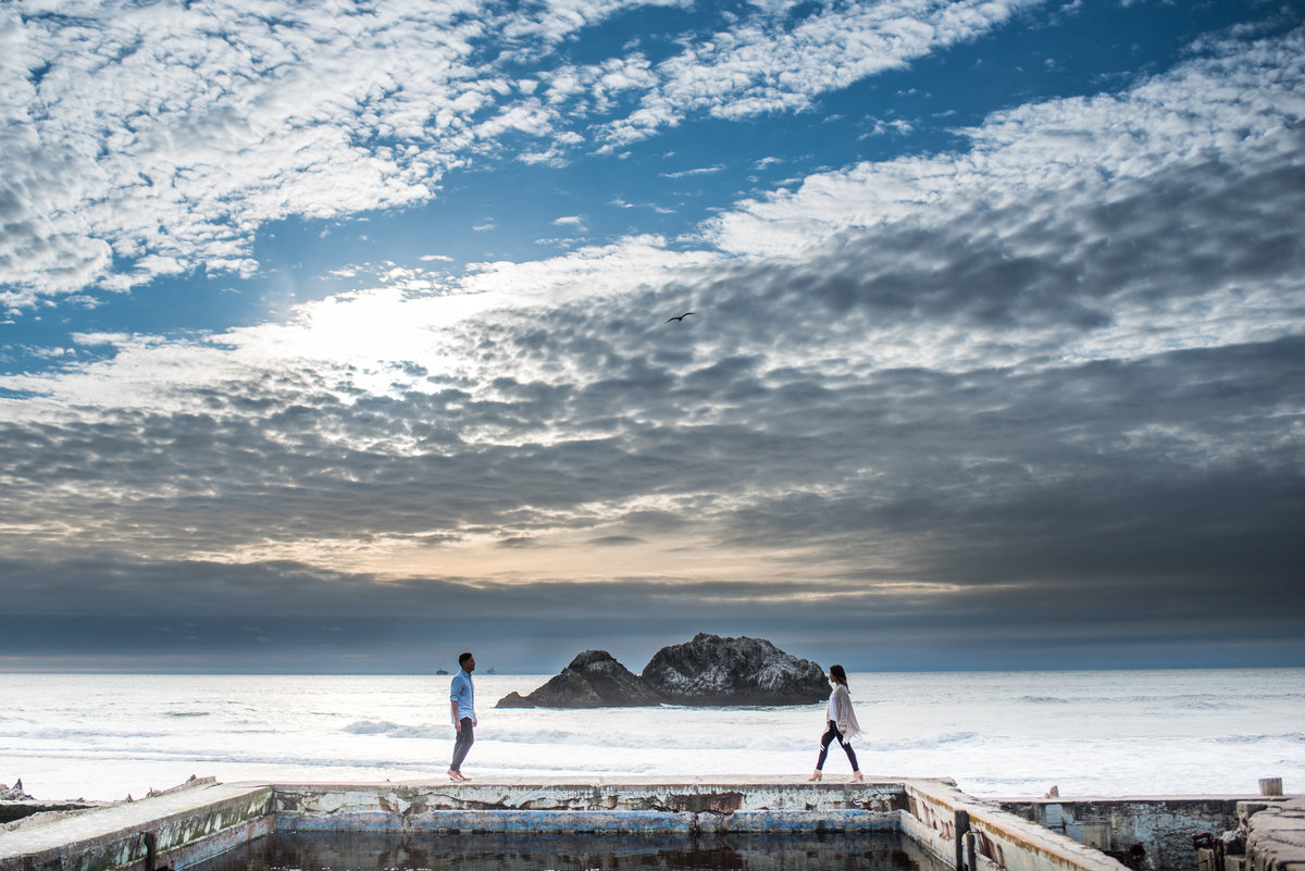 Sutro Baths Epic Engagement