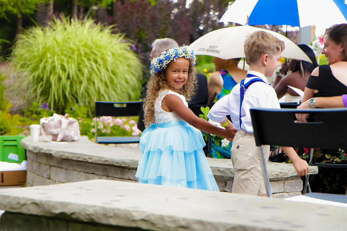 Toronto Flower Girl Outdoor Wedding