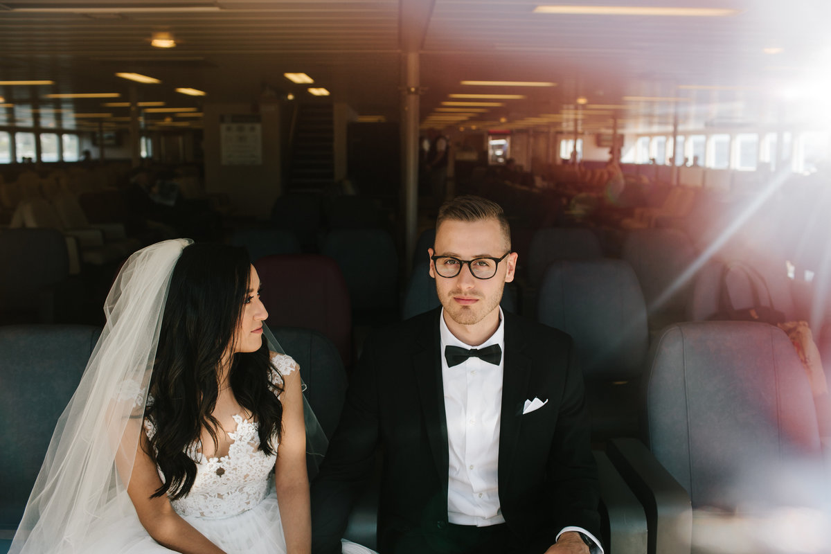 wedding on a boat