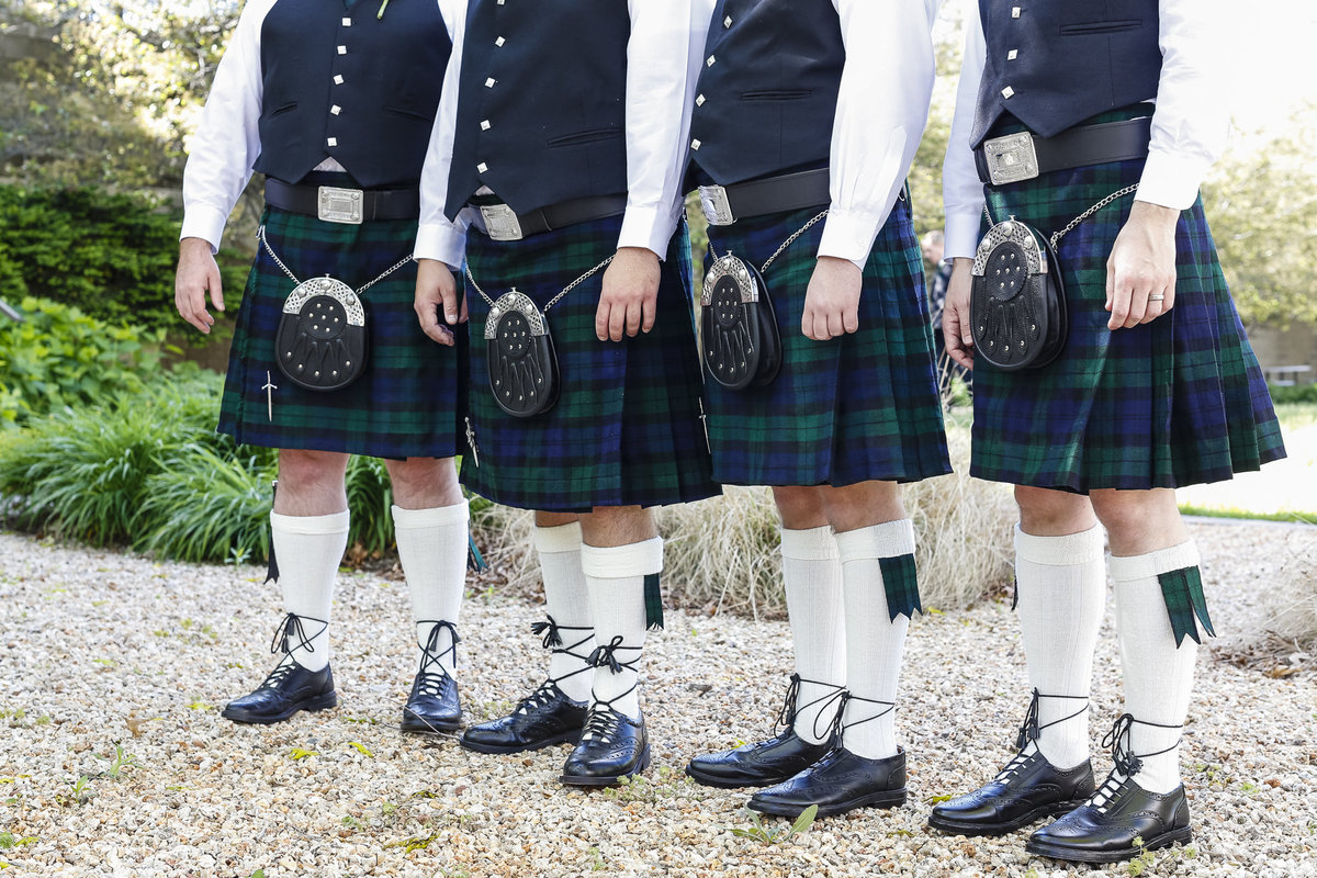 Bridal Party wearing kilts