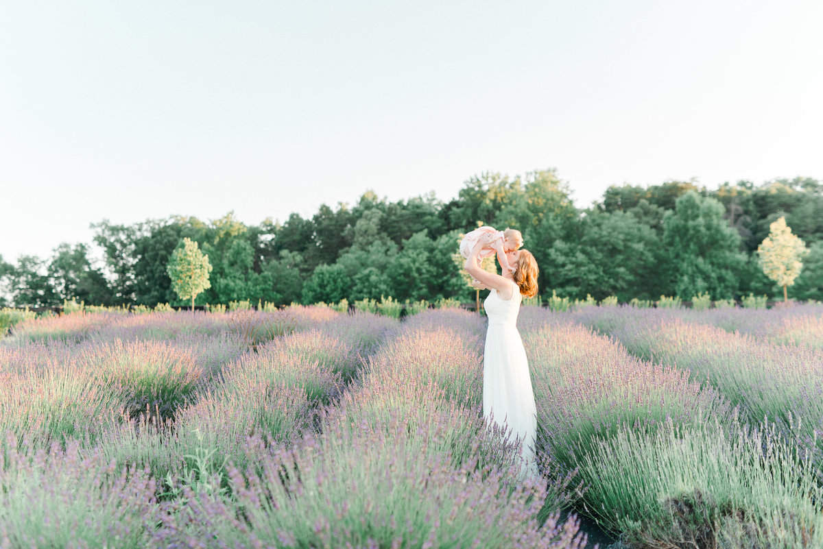 Lavender Field Motherhood Photography on The Fount Collective photographed by Andrea Pesce Photography