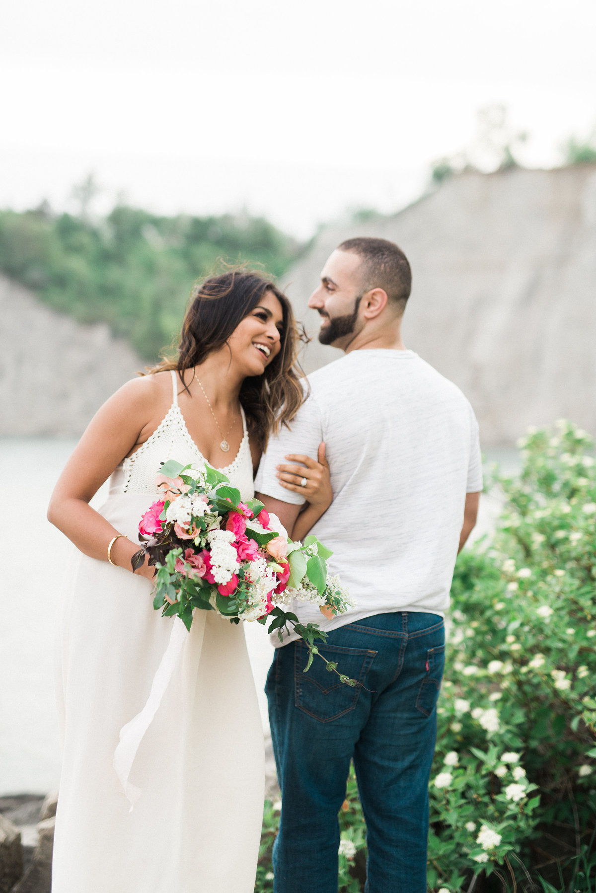 Destiny Dawn Photography is a fine art Wedding Photographer who did engagement photography at the Scarborough Bluffs