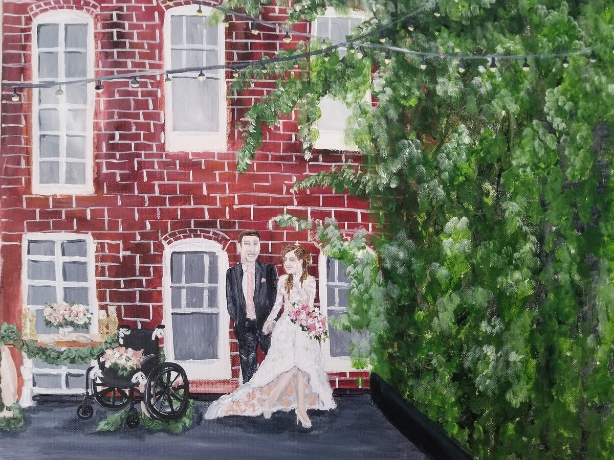 Fathom Gallery Washington DC Live Wedding Painting By Brittany Branson