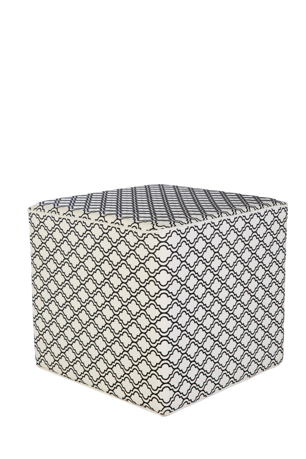 20''  x20'' Black & White Damask Cube Ottoman