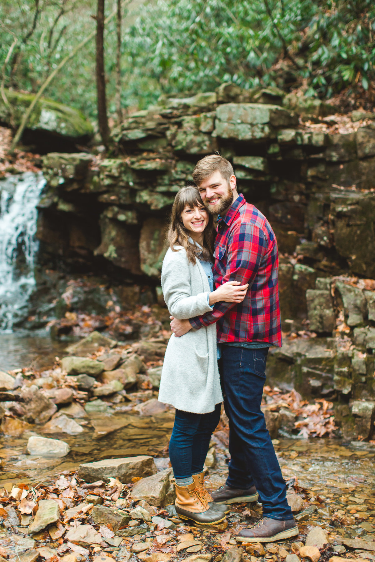 Benjamin & Alicia Outdoor Campfire Engagement Session on Hidden Rock Trail on Hone Quarry Ridge-5