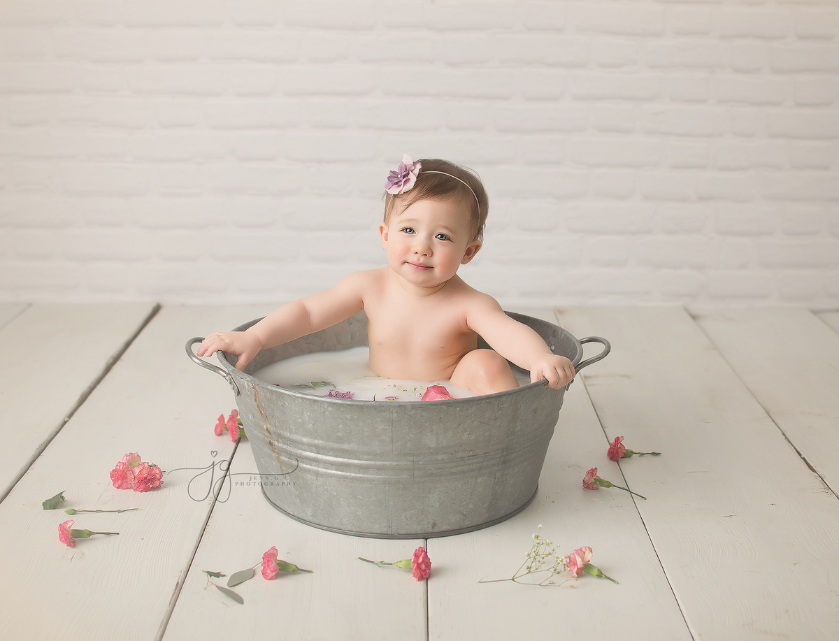 baby milk bath photo
