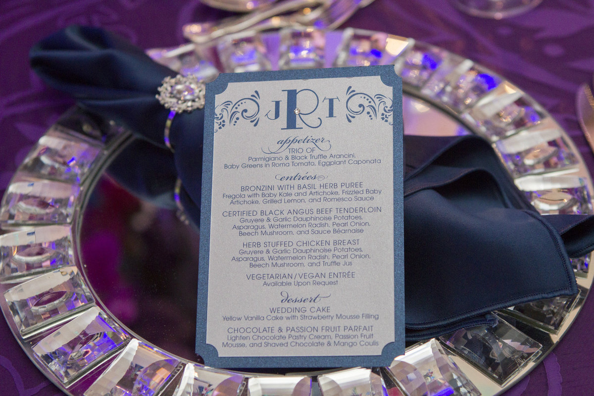 Pleasantdale Chateau Luxury NJ Wedding Purple Blue Pink Silver 16
