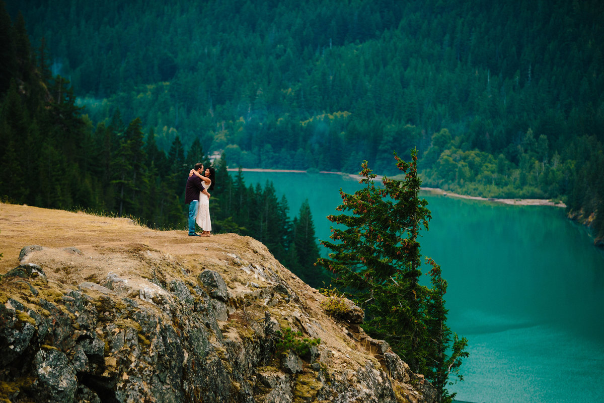 diablo lake adventure engagement photographer