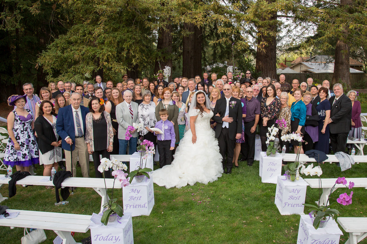 Wedding photo of all attendees
